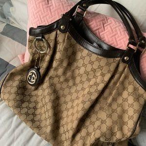 Gucci HOBO Handbag Brown Excellent Condition